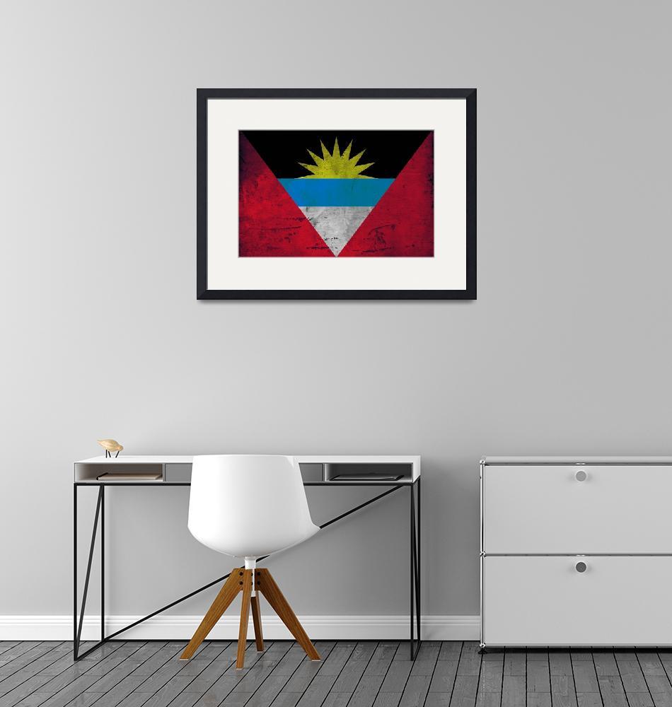 """ANTIGUA AND BARBUDA-FLAG""  (2014) by thegriffinpassant"