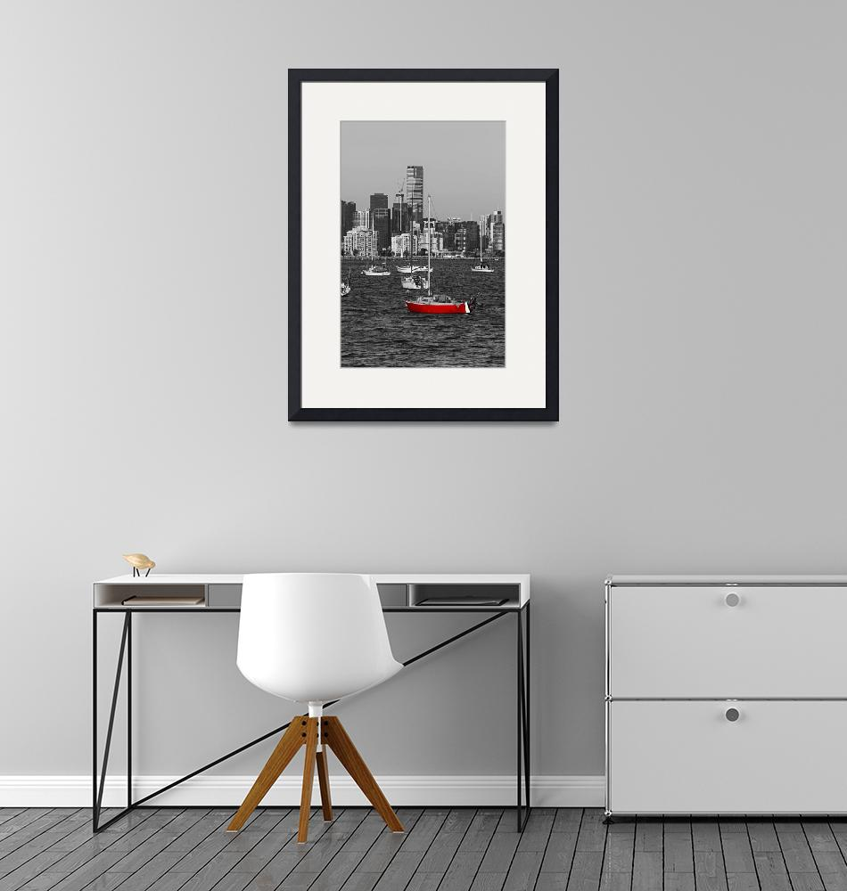 """""""Black and White Image of Melbourne City with a Sin""""  by maxwelljordan"""