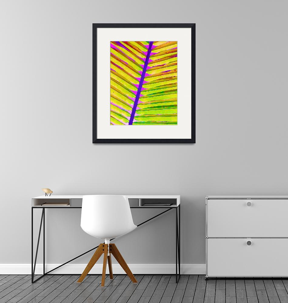 """""""Painted Palm Leaf""""  by ChrisAndruskiewicz"""
