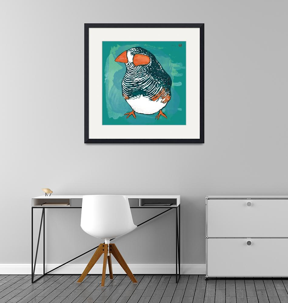 """""""Bird stylised drawing art poster""""  (2014) by visualharbour"""