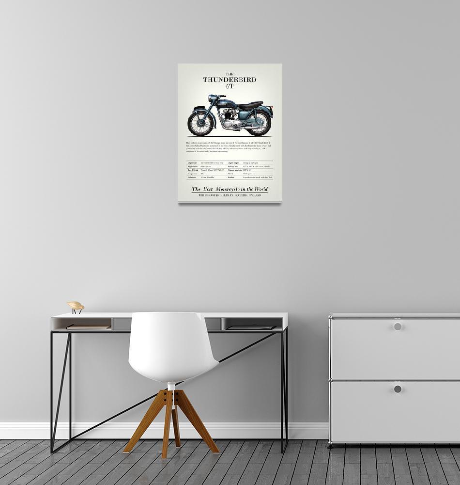 """The Thunderbird 6T Vintage Advert 1955""  by mark-rogan"