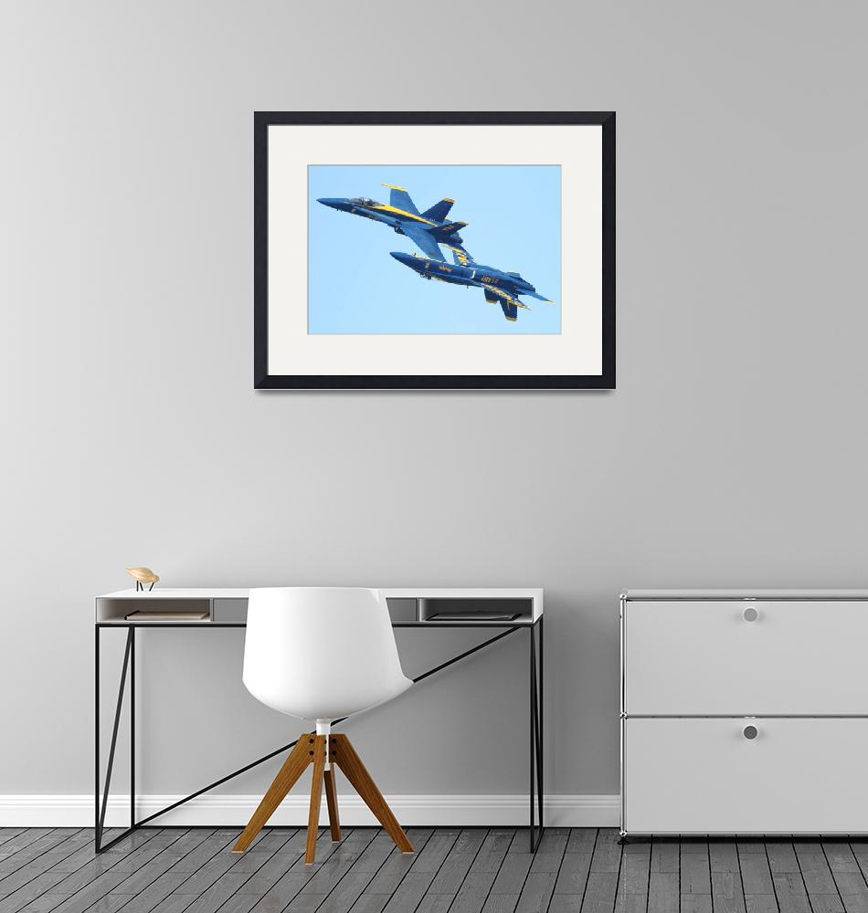"""""""Blue Angels Mirroring""""  (2010) by wingsdomain"""