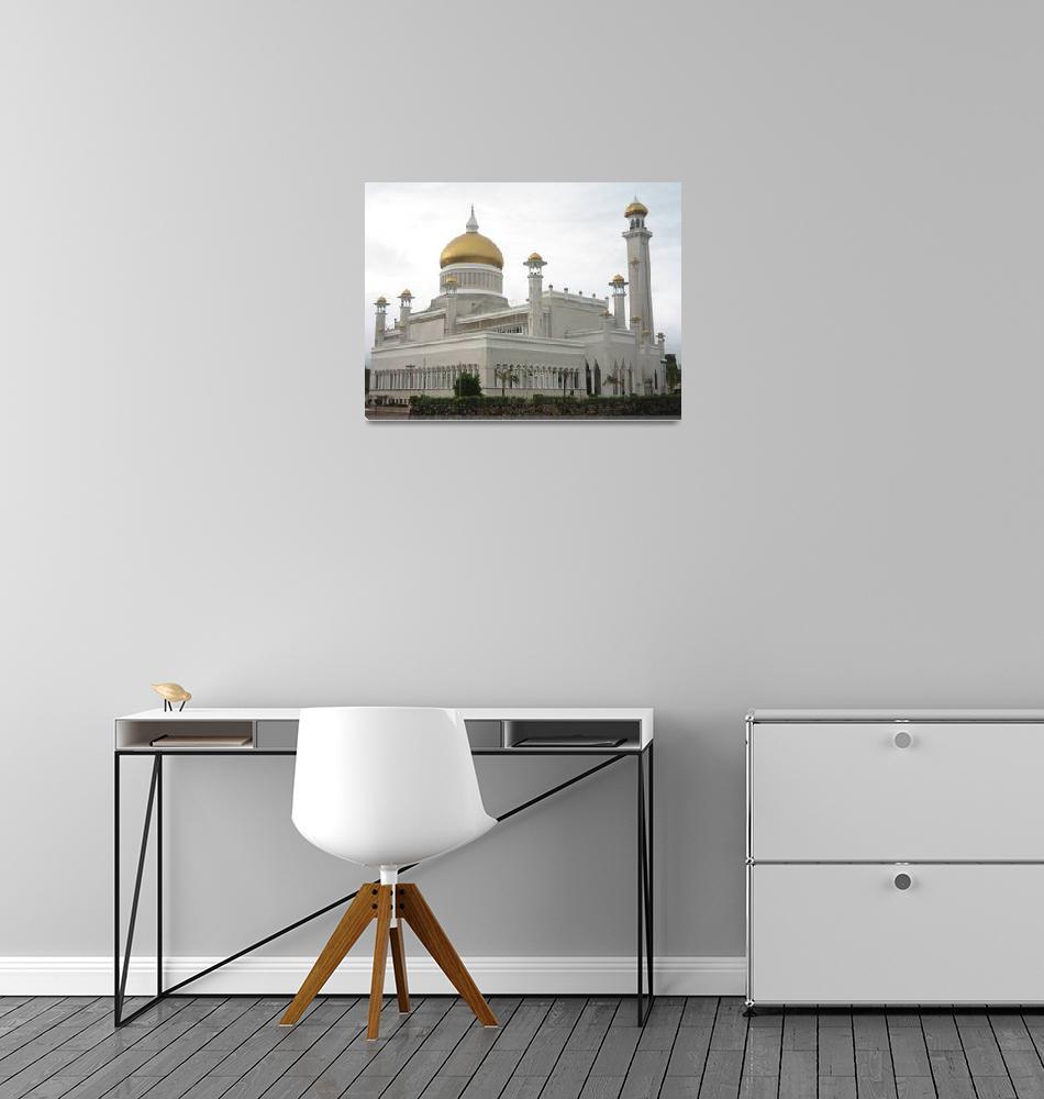 """""""Sultan Omar Ali Saifuddin Mosque, Brunei.""""  by showmeone"""