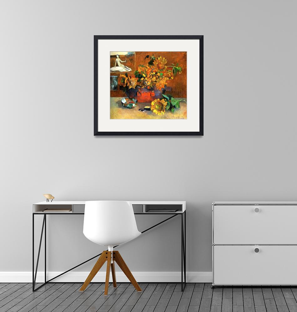 """Still Life Sunflowers""  by ArtLoversOnline"