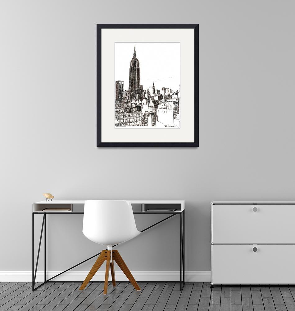 """""""New York City Empire State Building Midtown by Ric""""  by RDRiccoboni"""