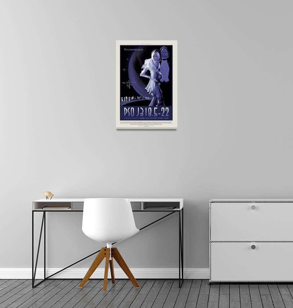 """NASA PSO J318.5-22 Space Travel Poster""  by FineArtClassics"