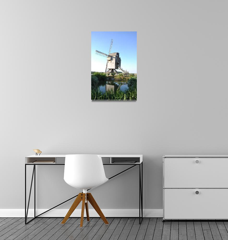 """""""Windmill in European Countryside""""  (2011) by greencricketphoto"""