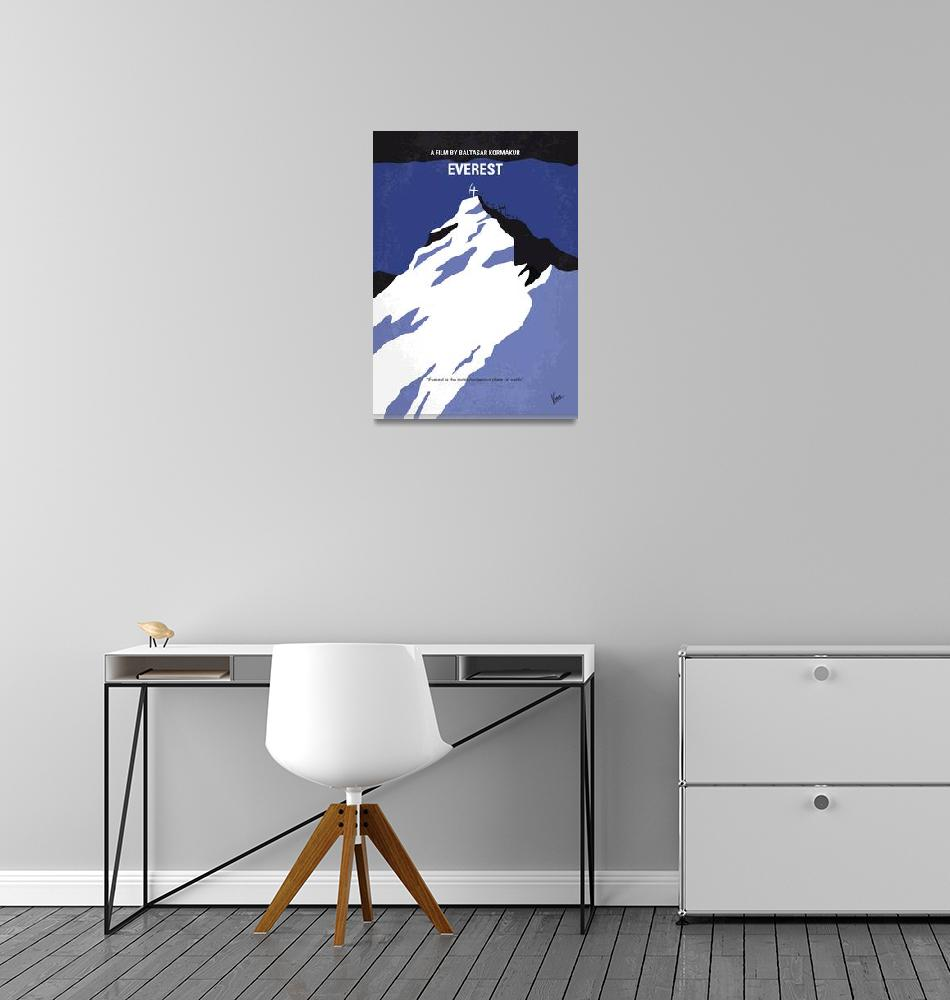 """""""No492 My Everest minimal movie poster""""  by Chungkong"""