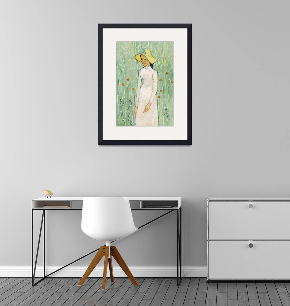 """Girl in White by Van Gogh""  by FineArtClassics"