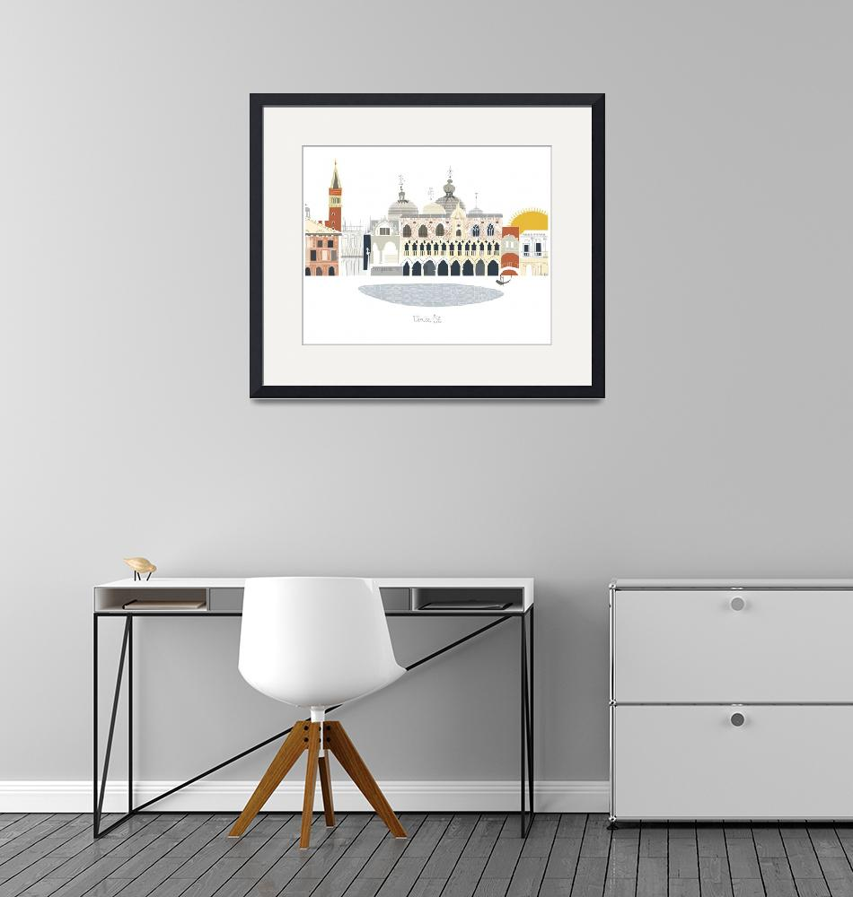 """Venice Modern Cityscape Illustration""  by AlbieDesigns"