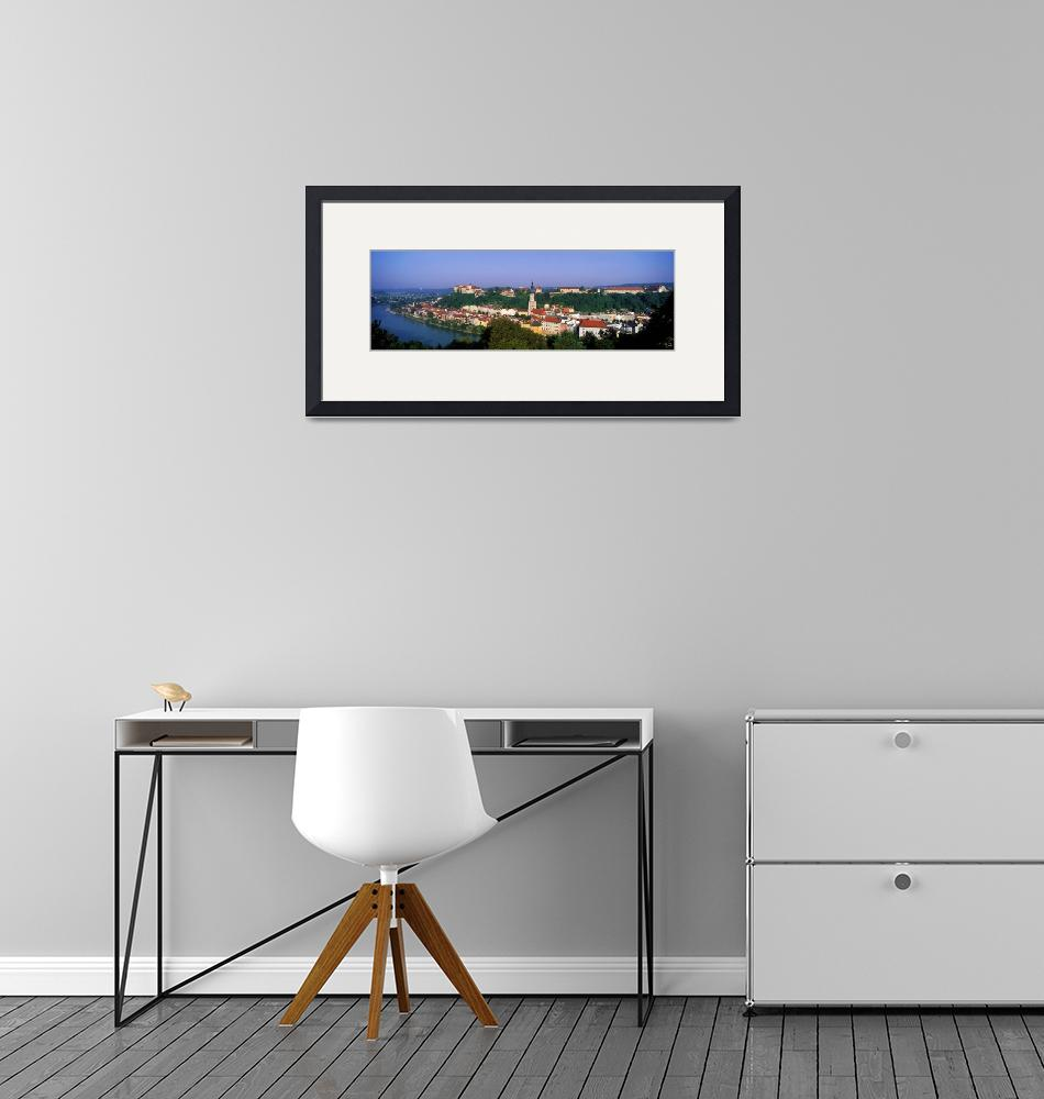 """Skyline Salzach River Burghausen Bavaria Germany""  by Panoramic_Images"
