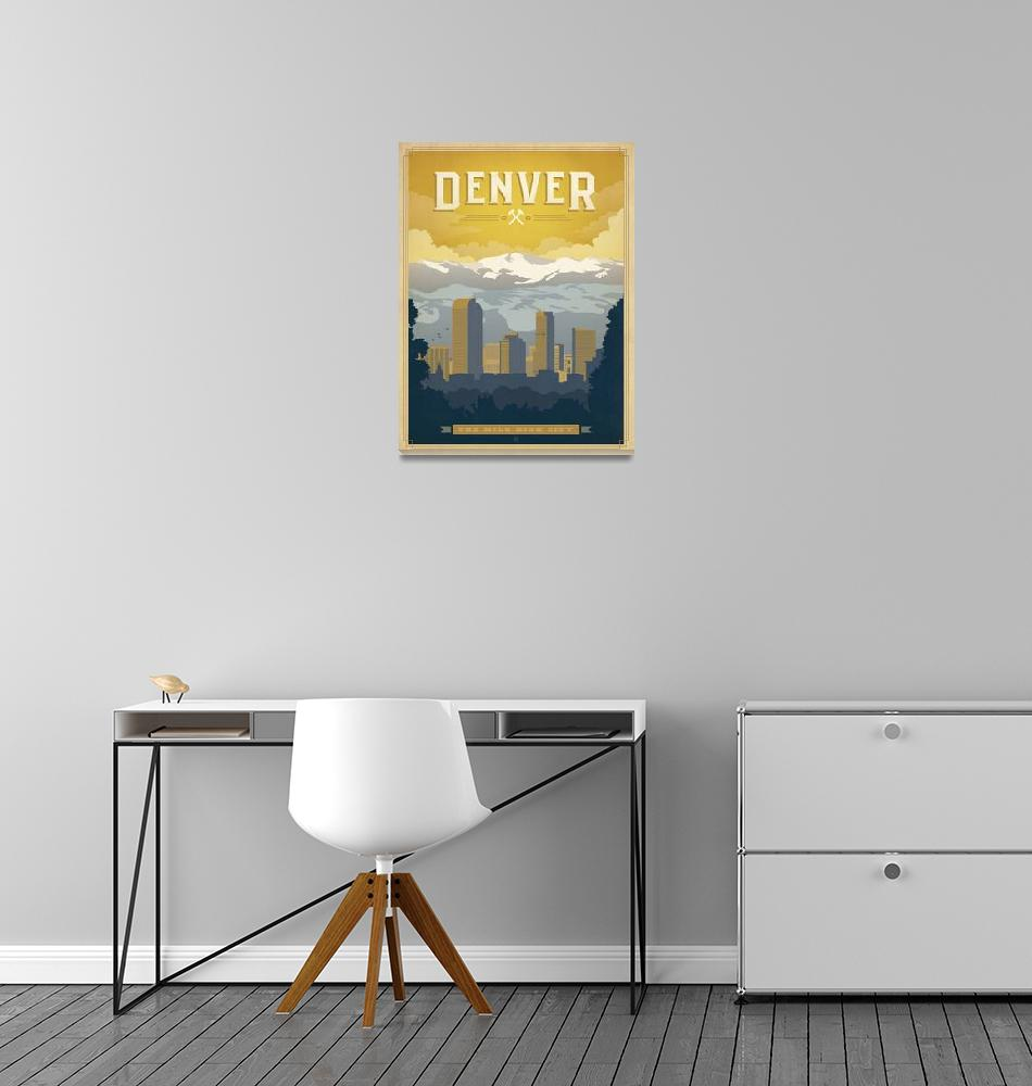 """Denver, Colorado Retro Travel Poster""  by artlicensing"