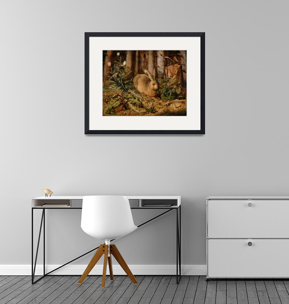 """""""Hans Hoffmann A Hare In The Forest""""  by masterpieces"""