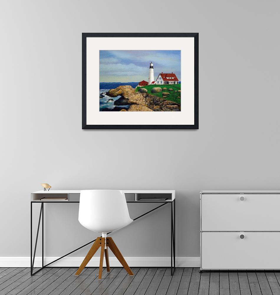 """""""Lighthouse at Rocky Point""""  (2010) by terryhuey"""