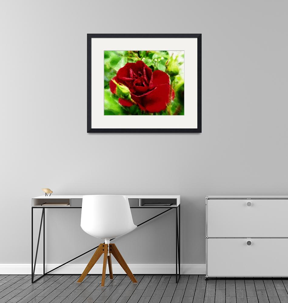 """""""new rose2 paintng""""  by lizmix"""