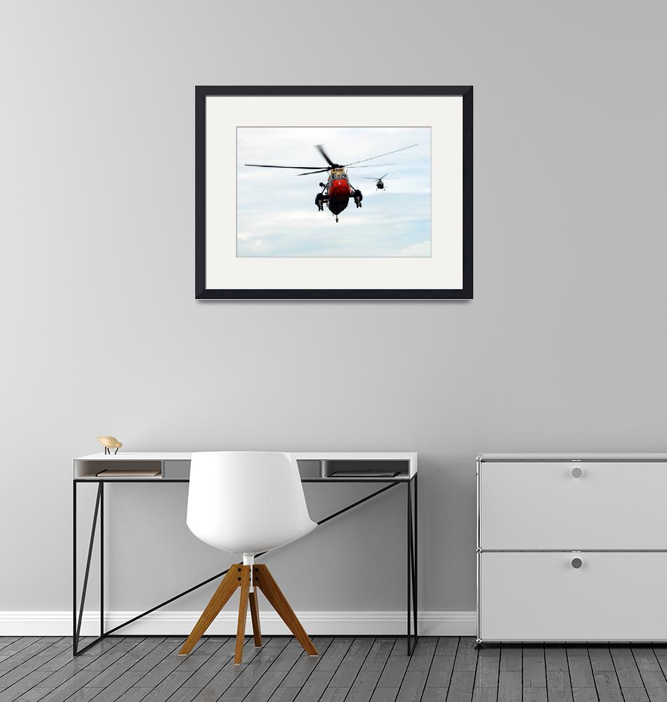 """""""The Sea King helicopter and the Agusta A109 of the""""  by stocktrekimages"""