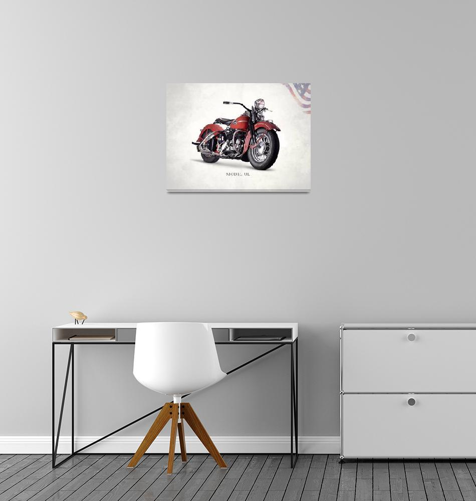"""Harley Model UL 1941""  (2015) by mark-rogan"