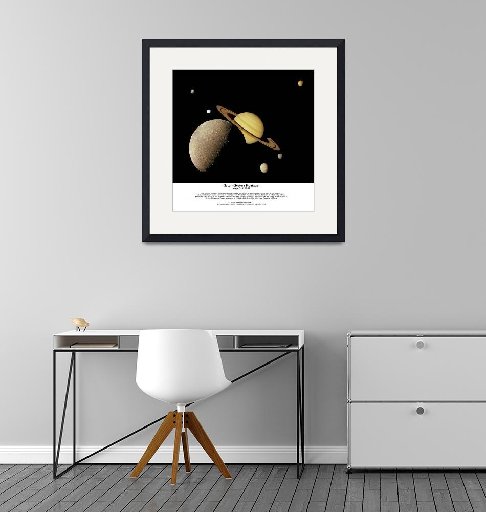 """""""Saturn System Montage""""  (2012) by SouthIdahoPhoto"""