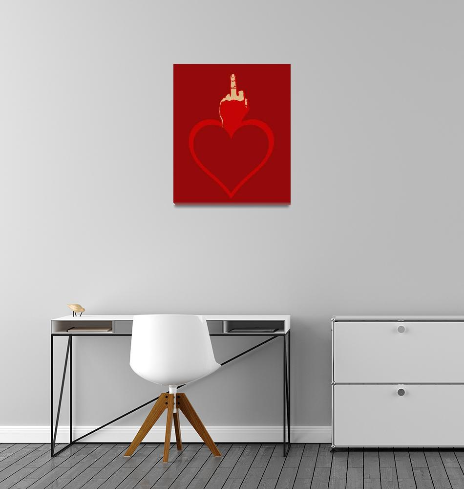 """Heart Series Love The Finger""  (2018) by RubinoFineArt"