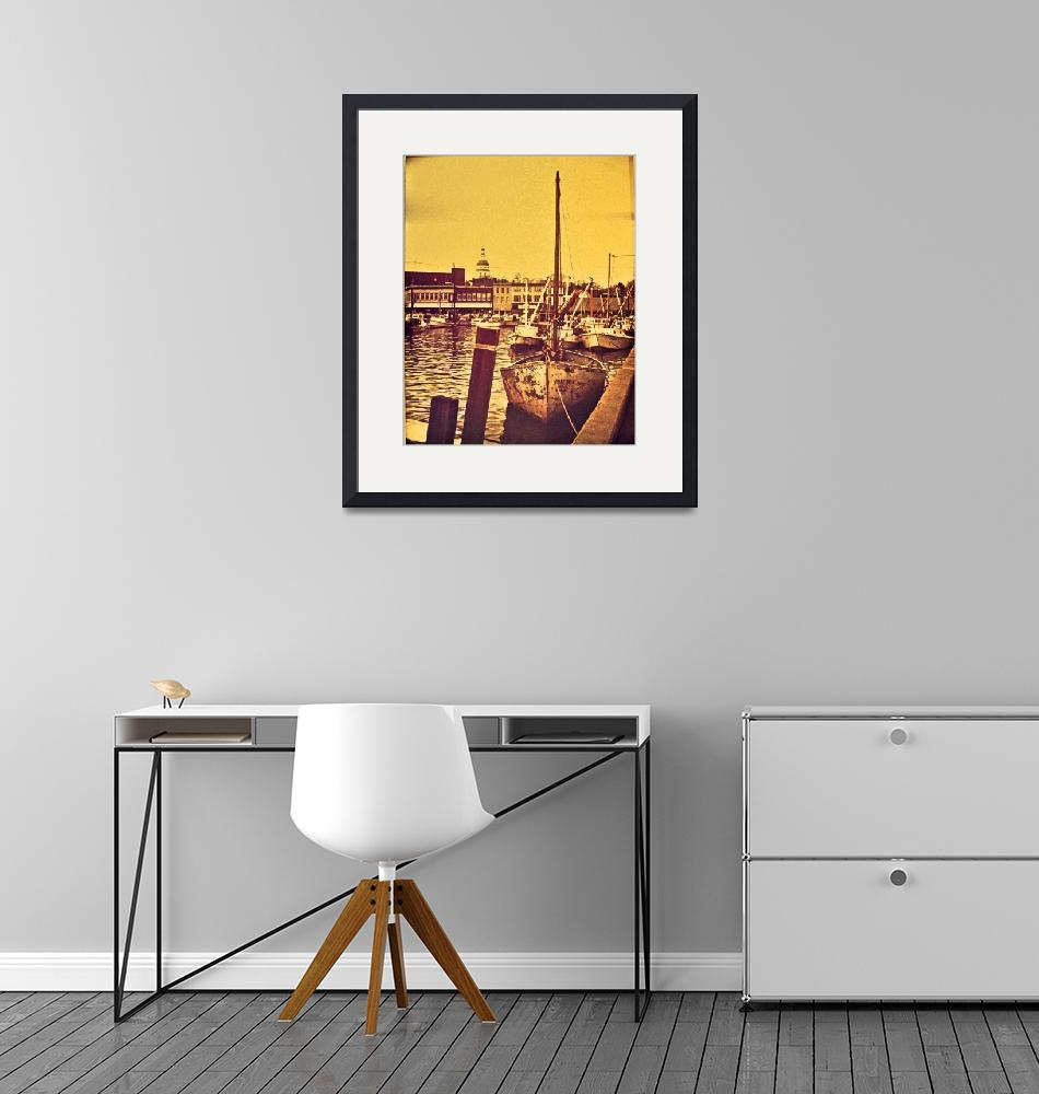"""""""Annapolis Waterfront (1973)""""  (1973) by Brooklyn13ny"""