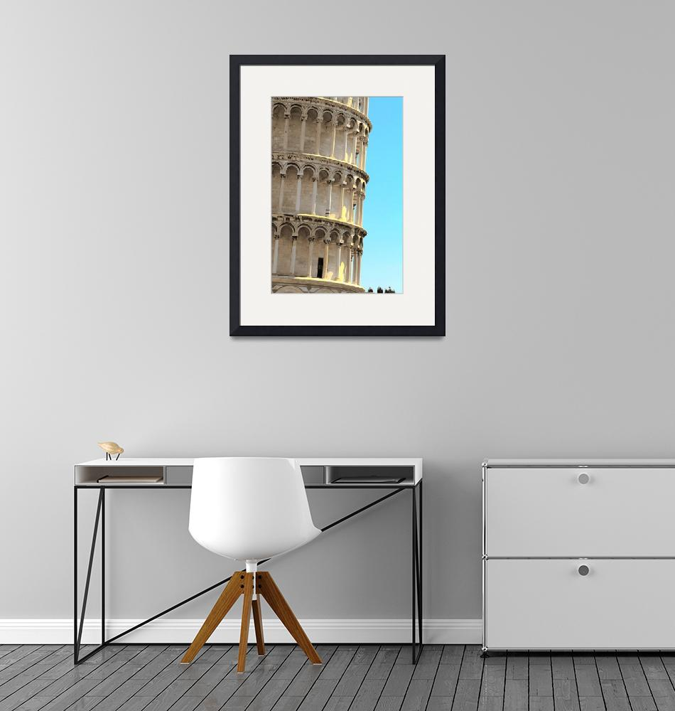 """""""Leaning Tower Detail""""  (2008) by Shutterstitch"""