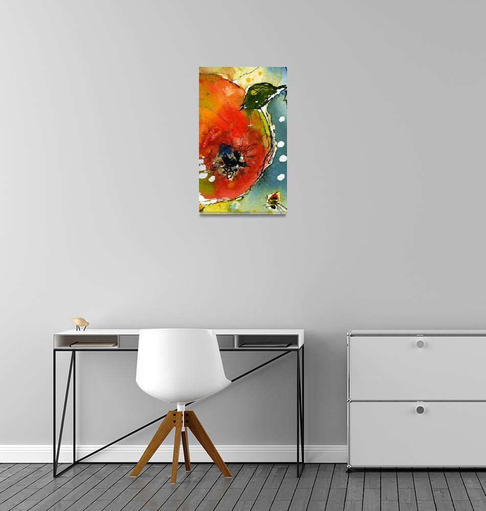 """""""Apple Abstract 110209A by Ginette""""  (2011) by GinetteCallaway"""