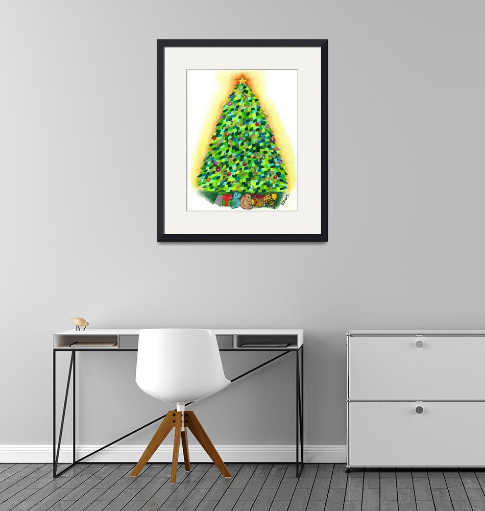 """Arbre de Noel: The Christmas Tree""  (2010) by sharonblanchard"