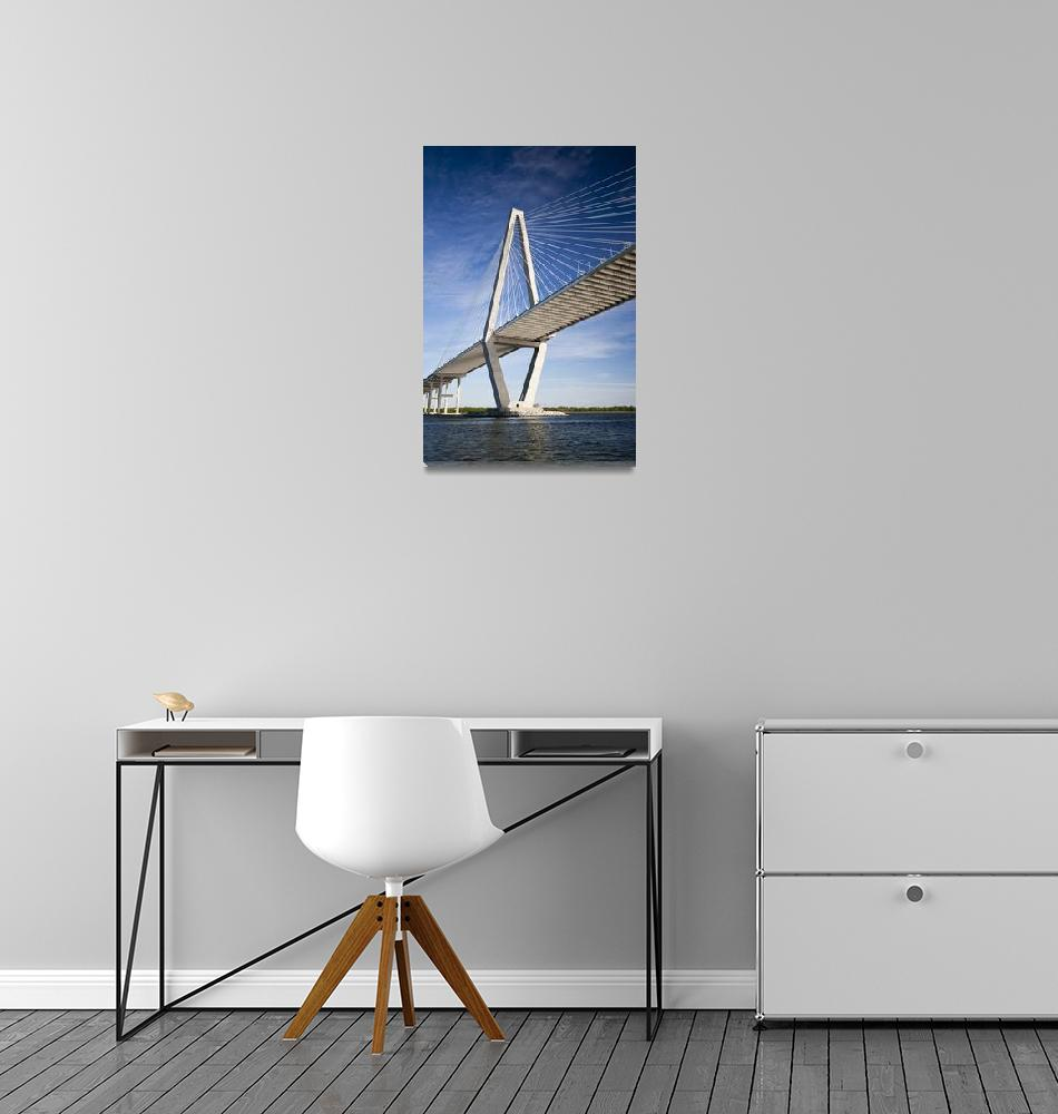 """Arthur Ravenel Jr Bridge over the Cooper River""  (2010) by DustinKRyan"