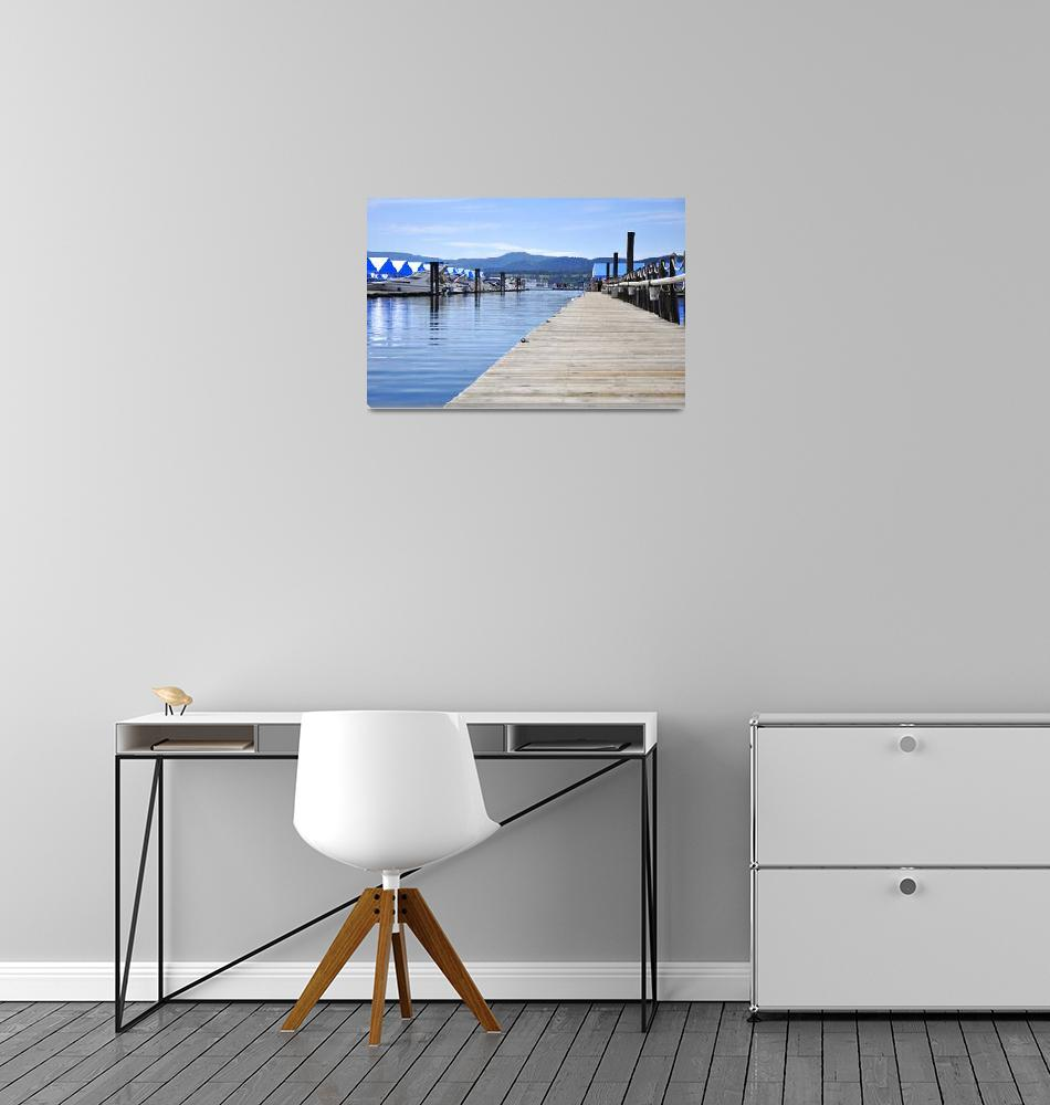 """""""Smooth Water Dock""""  (2011) by jerrysodorffphotography"""