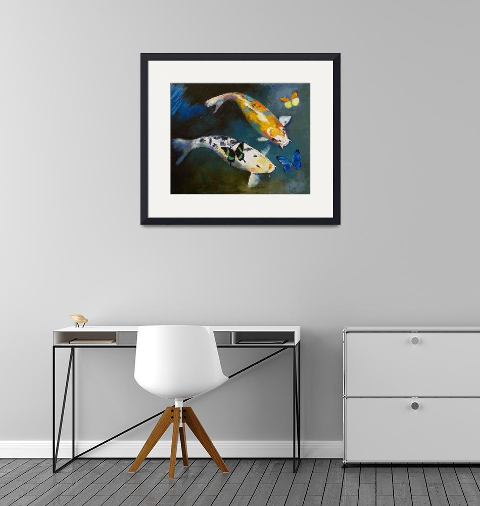 """""""Koi Fish and Butterflies""""  by creese"""