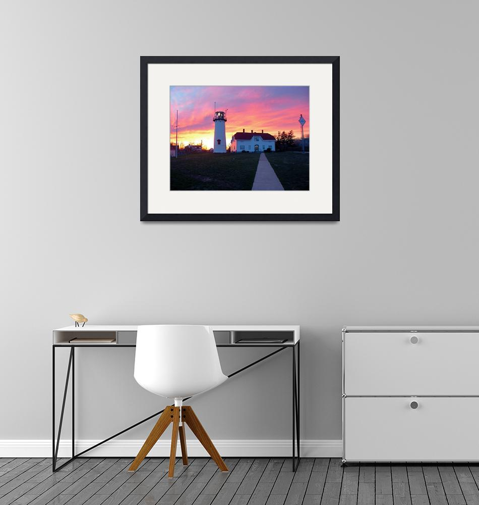 """""""Chatham Lighthouse at Sunset"""" (2017) by ChrisSeufert"""