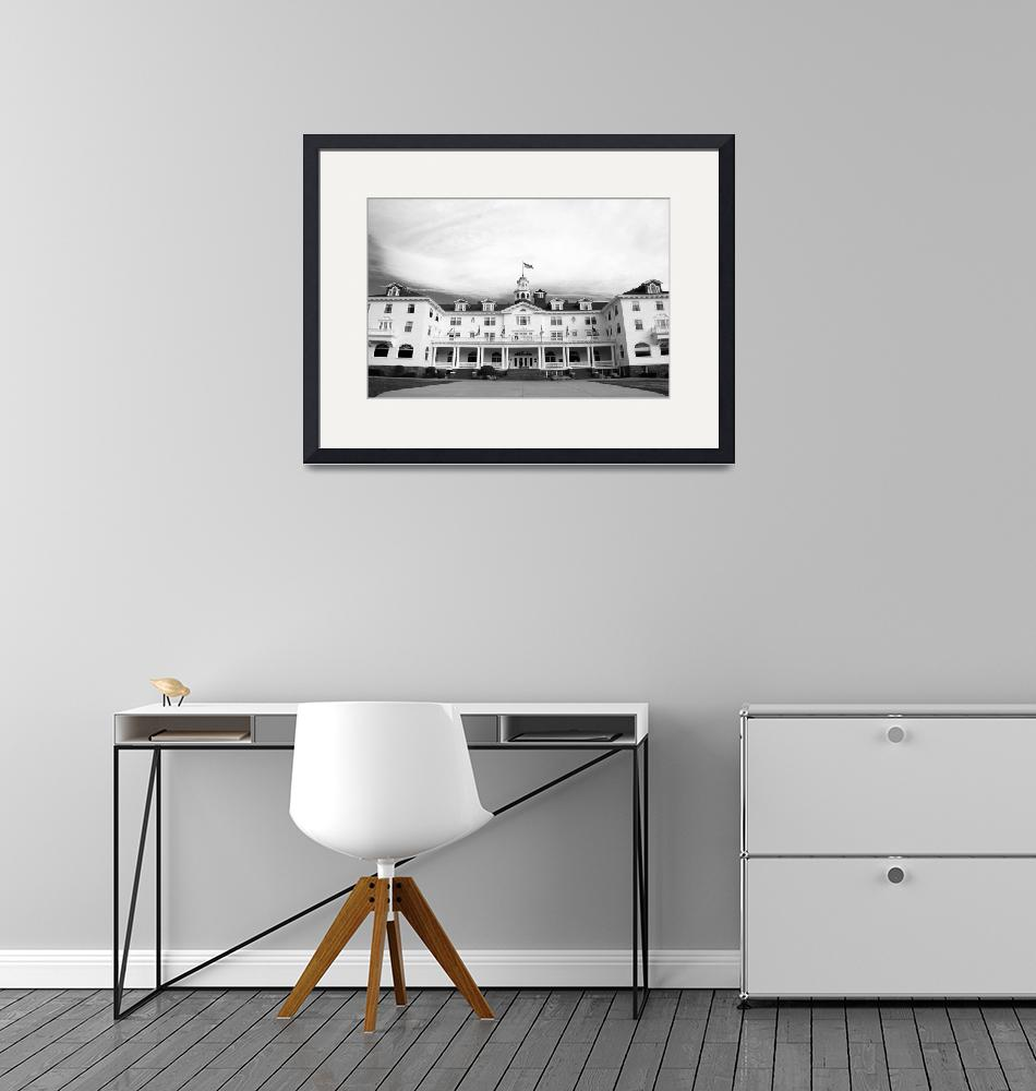 """""""The Stanley Hotel in Estes Park (black and white)""""  (2010) by CocktailHour"""