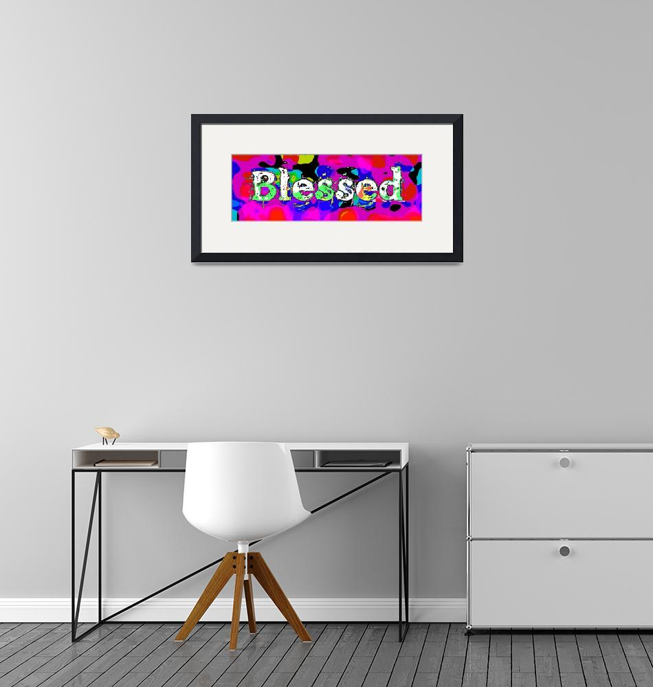 """blessed old print funky""  by lizmix"