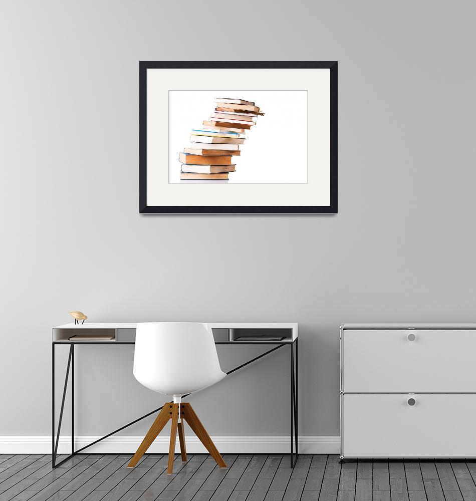 """""""Pile of books  isolated on white background""""  by Piotr_Marcinski"""