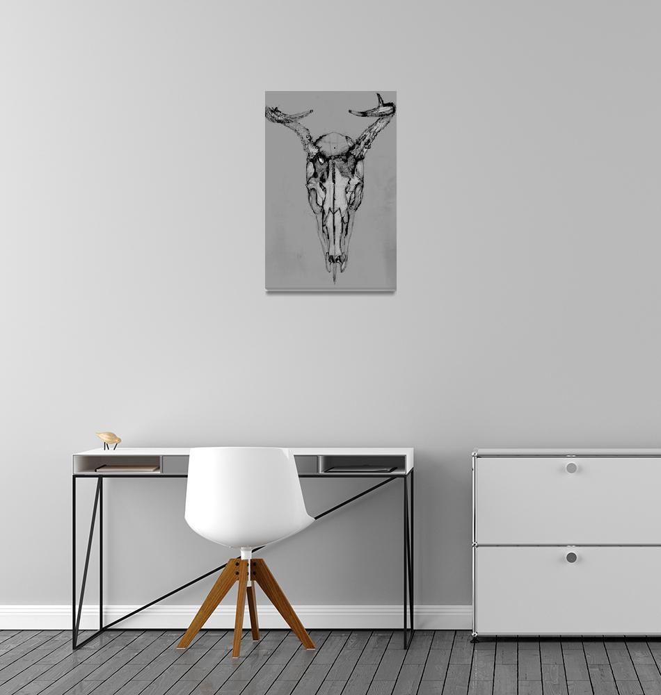"""""""Deer Skull still life 1""""  (2006) by Abuccafusco"""