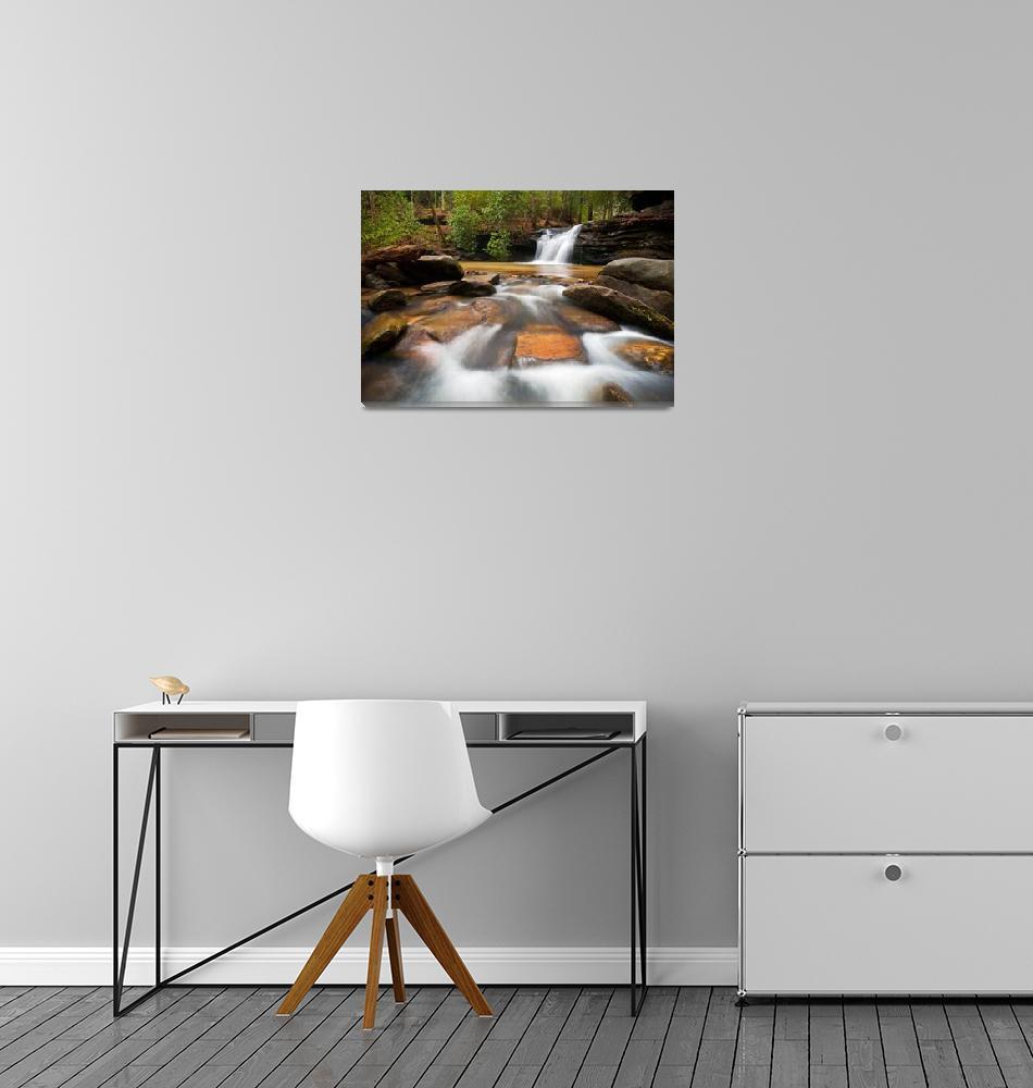 """""""Upstate SC Waterfall Landscape Blue Ridge Mountain""""  (2012) by DAPhoto"""