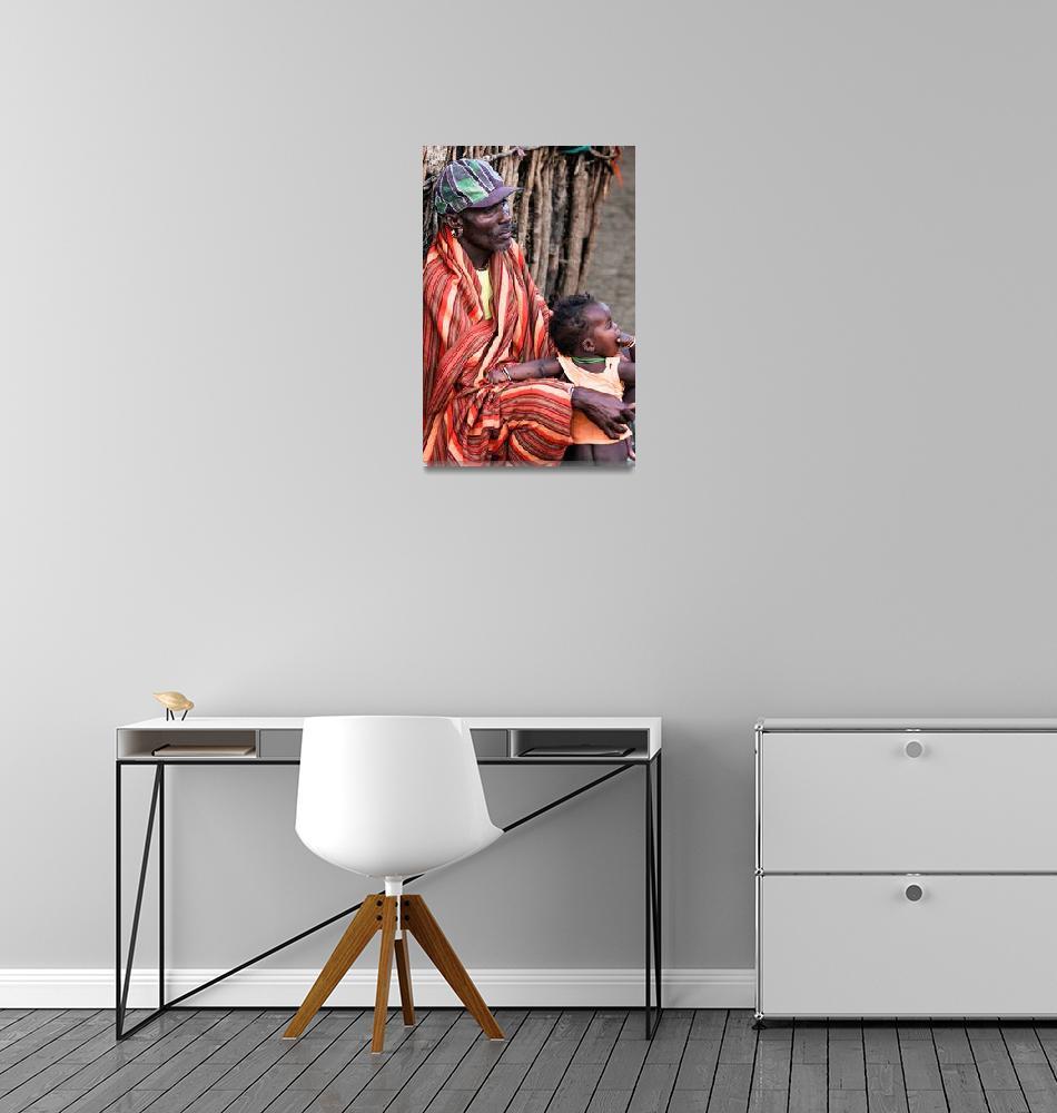 """Samburu Elder and son""  (2012) by mjphoto-graphics"