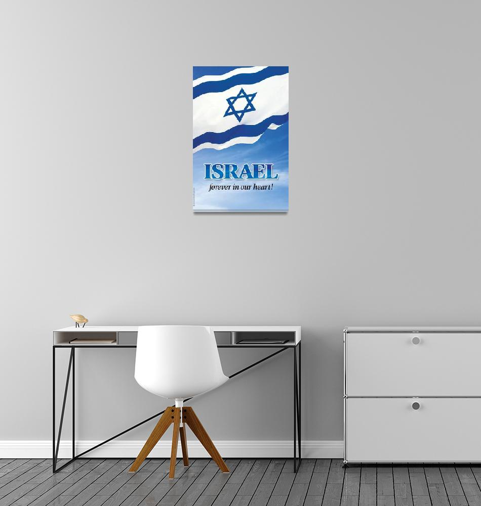"""FOREVER in our heart""  (2009) by PostersOfIsrael"