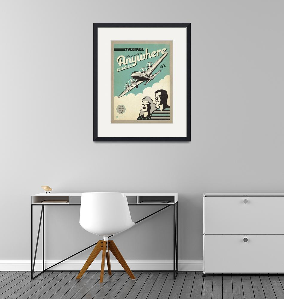 """""""Travel Anywhere, USA Retro Travel Poster""""  by artlicensing"""