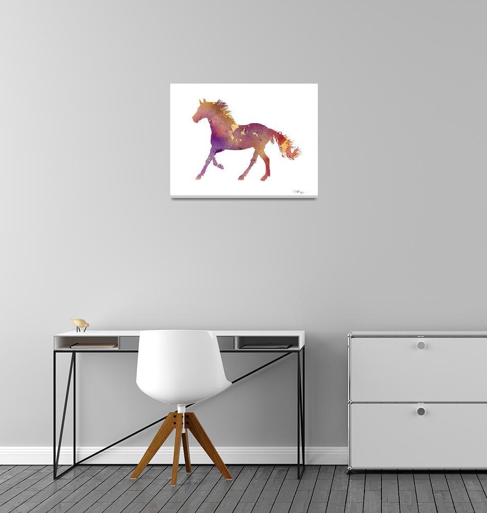 """""""Horse Running""""  (2015) by k9artgallery"""