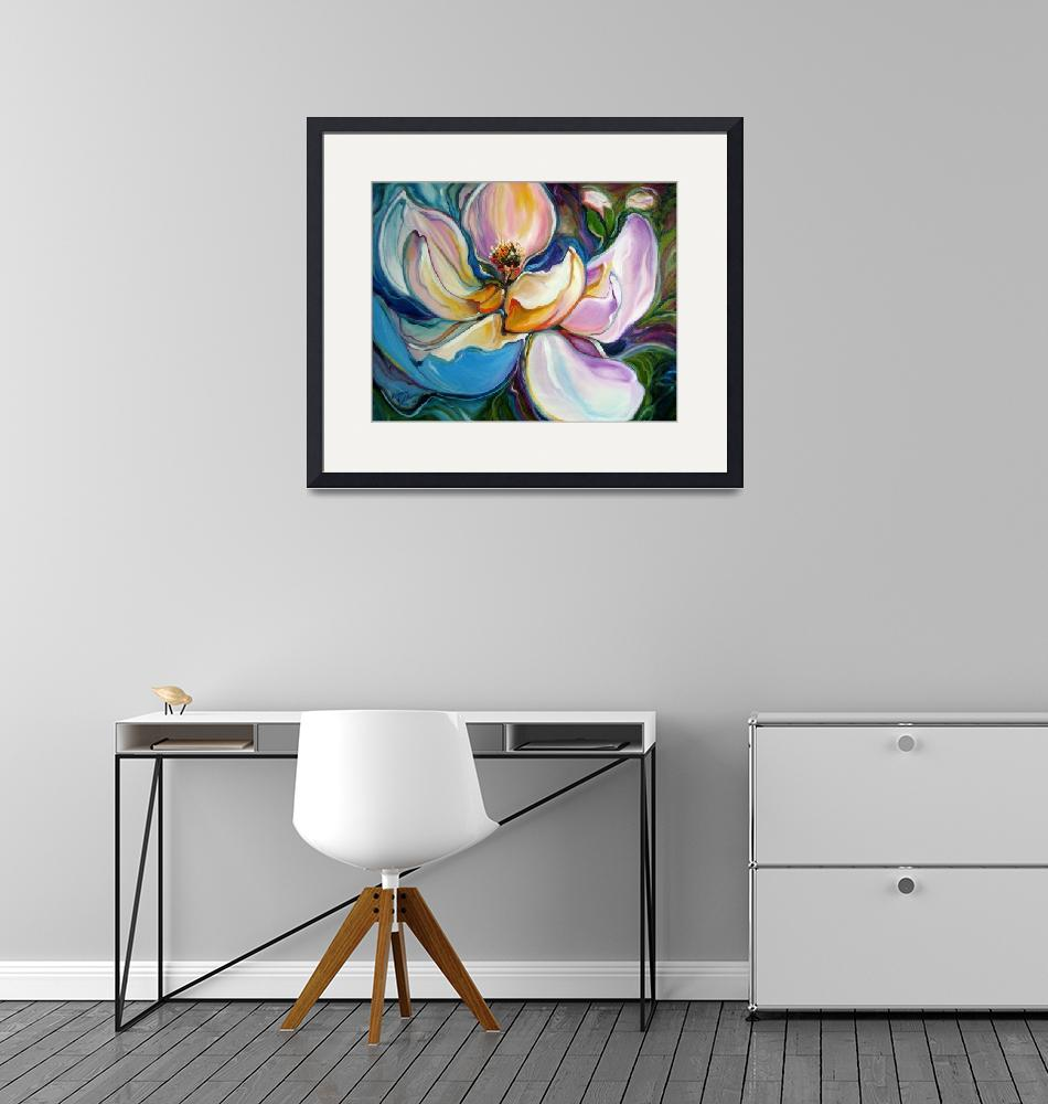 """SWEET MAGANOLIA MODERN FLORAL ABSTRACT""  (2009) by MBaldwinFineArt2006"