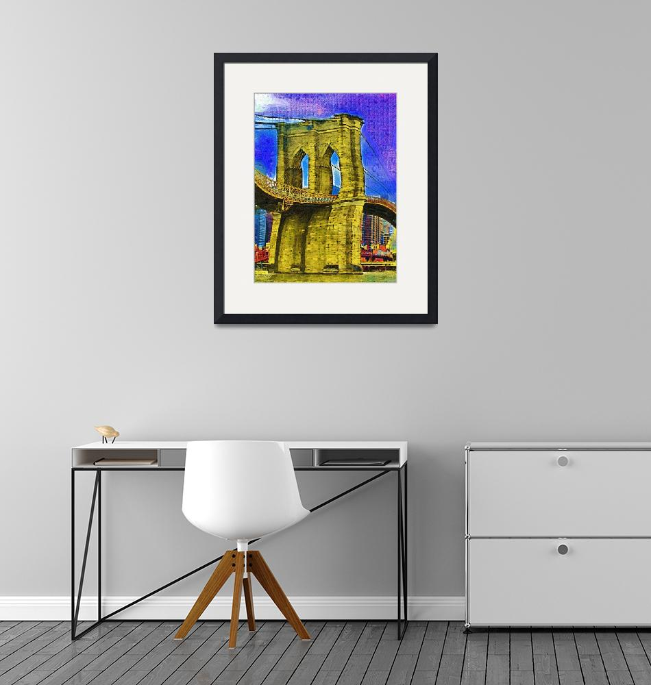 """Brooklyn Bridge Fauvist DSC02412""  by loxly"