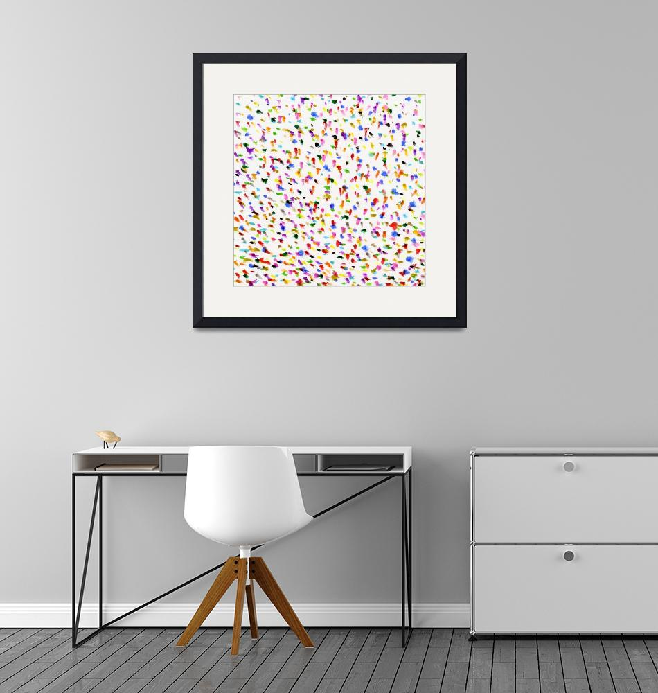 """""""Polka Dots Colorful Splots Stipple Marker""""  (2020) by ValeriesGallery"""