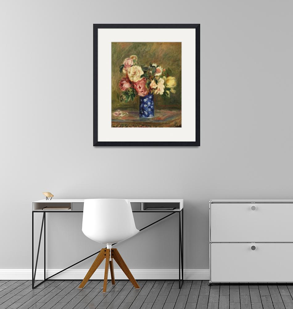 """""""Bouquet of Roses by Renoir""""  by FineArtClassics"""