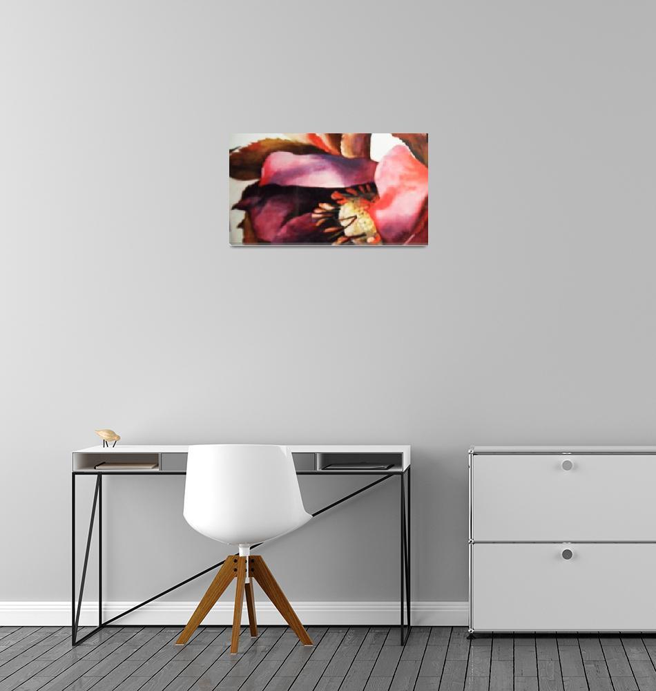 """""No ordinary pink flower""""  (1998) by artbyjpennington"