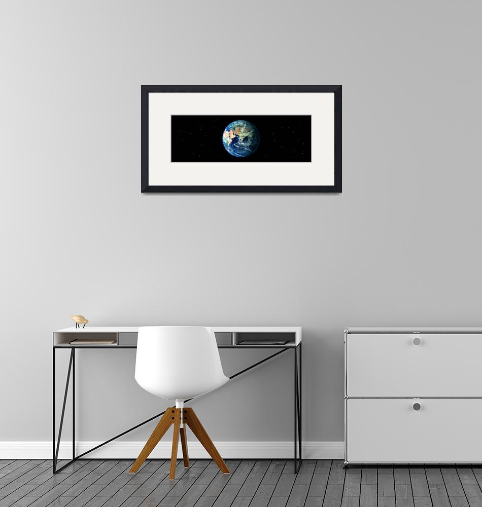 """Earth in Space showing Asia and Africa (Photo Ill""  by Panoramic_Images"