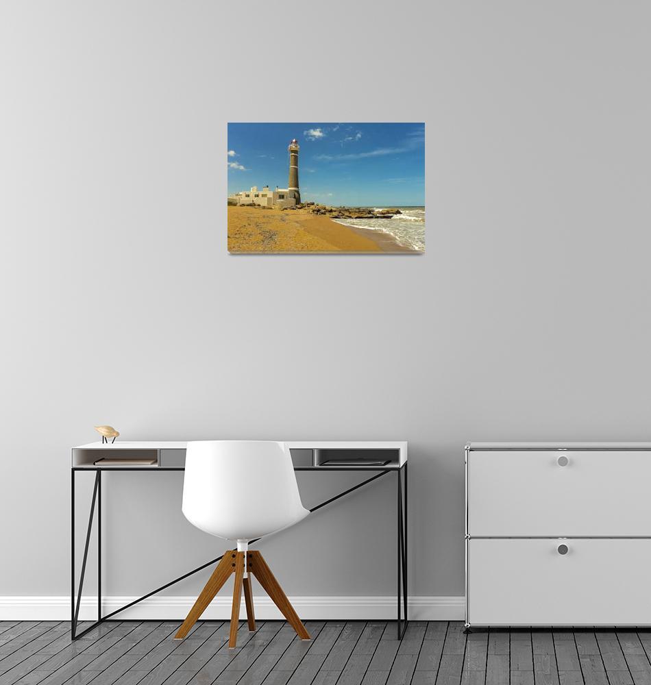 """Jose Ignacio Beach, Maldonado, Uruguay""  (2016) by danfleitesart"