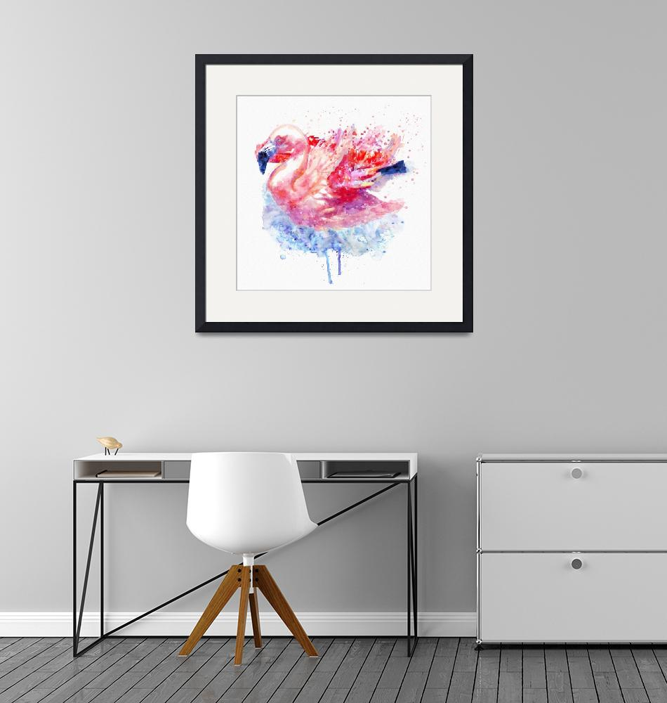 """""""Flamingo on the Water""""  (2016) by MarianVoicu"""
