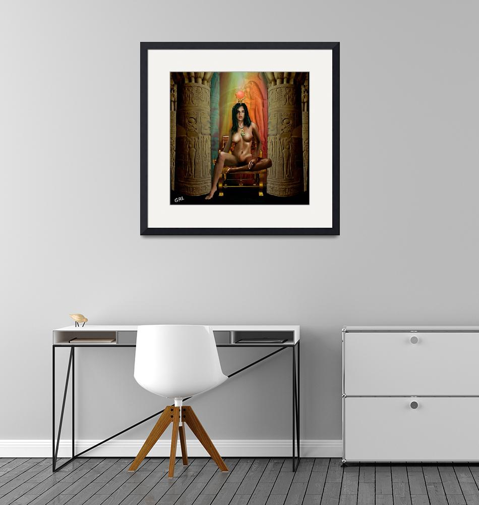 """""""Traditional Modern Female Nude Goddess Isis Of Mag""""  by grl"""