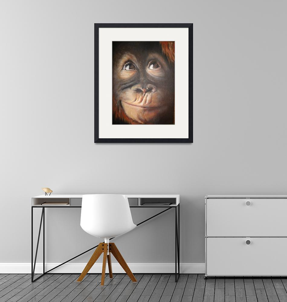 """Monkey Secret Thought""  (2008) by kerralindsey"